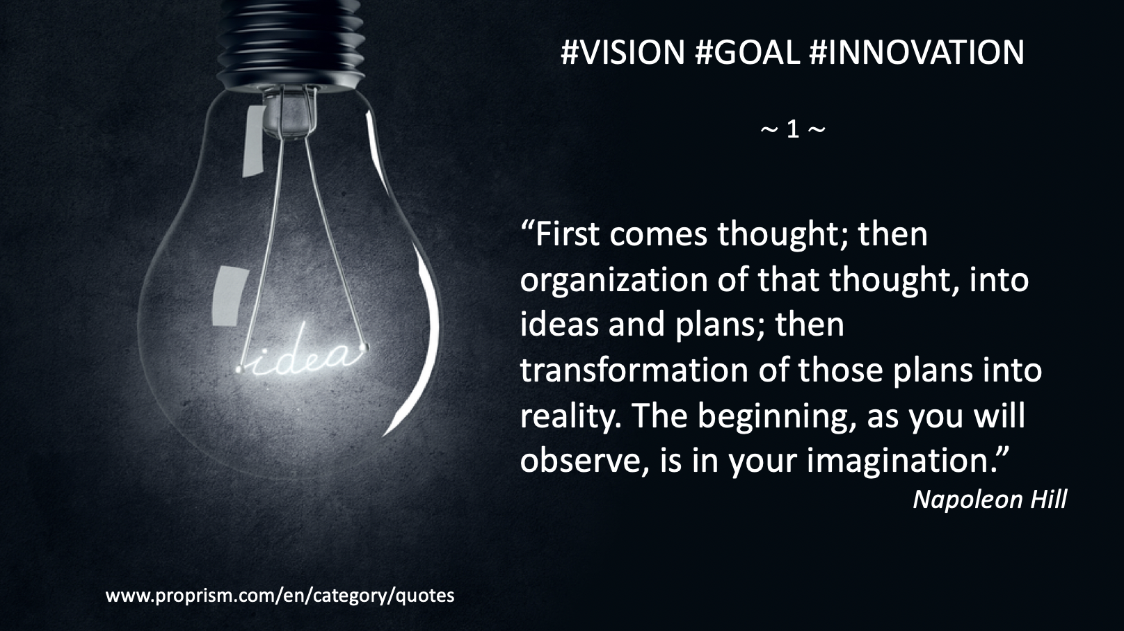 #Innovation #Goal #Vision #Quote